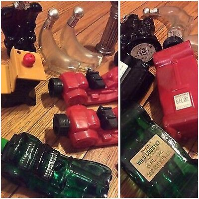 Vintage Avon Cologne Perfume Bottles Lot of 12 Desk Cement Mixer Cadillac + More