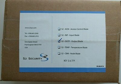 NEW - S2 Security S2-OUTP Output Blade - Factory sealed box