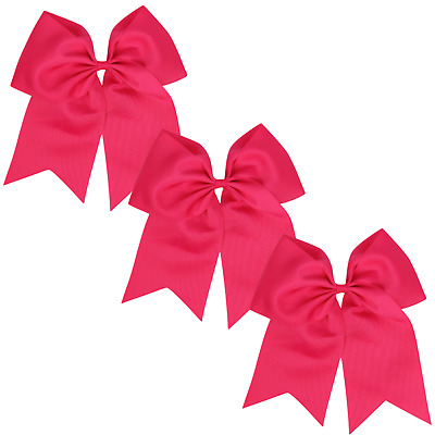 """Single Patrick/'s Day Large 7/"""" Jumbo Oversize Cheer Bow with Ponytail Holder St"""