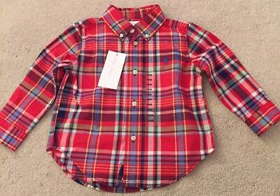 Ralph Lauren Baby Boy Checked Shirt, Age 18 Months