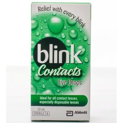 Blink Contacts Eye Drops 10Ml NEW Cincotta Chemist