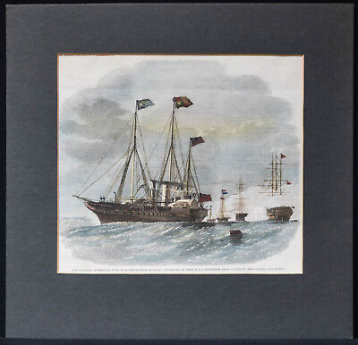 HMS Victoria and Albert –  Xylographie um 1870