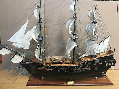 "Black Pearl Pirate  Wooden Model Tall Ship Sail Boat 100 Cm. ( 39"") Model New"
