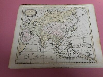 100% Original Asia China Japan Borneo  Map By Barlow  C1807 Vgc Original Colour