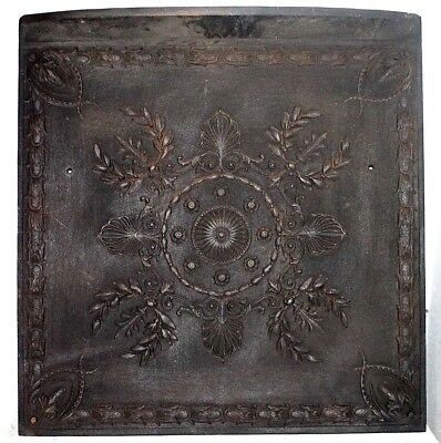 Antique *heavy* Cast Iron Victorian Embossed Fireplace Surround Insert.