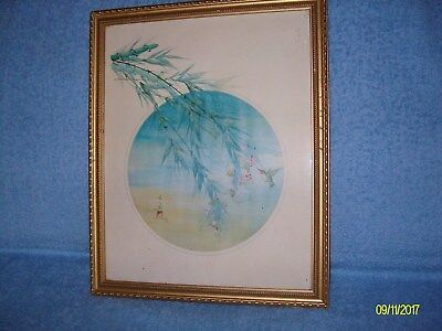 framed japanese print by s.cheng