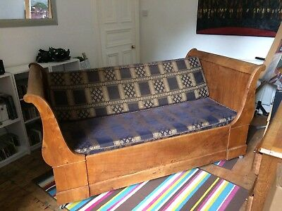 Beautiful Antique French Single Sleigh Bed converts to sofa