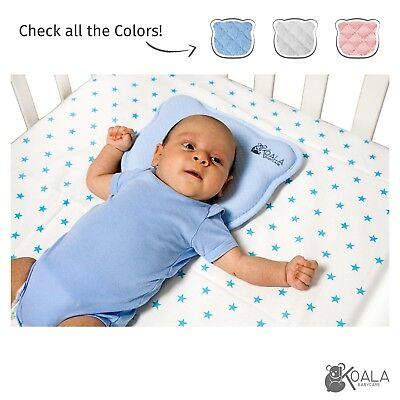Orthopedic Flat Head Baby Pillow with two removable covers prevent / cure Plagio