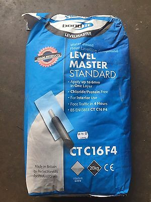 Bond It LEVELMASTER SELF LEVEL LEVELING COMPOUND 20KG FLOOR For Cements Screeds