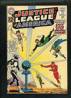 Justice League of America 12 From 1962 Fine+ Condition Batman Wonder Woman