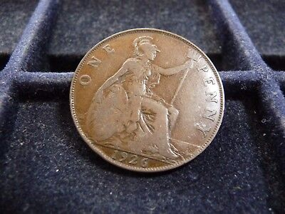 1926 Great Britain Large Penny In Very Good Condition Mark-156