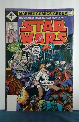 Marvel (1977) Star Wars #2 35 cents 2nd Print _ No word Reprint in Logo