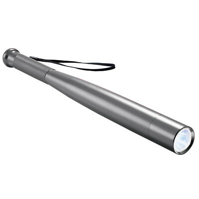 Led Security Stick Bat Flashlight Silver, by Collections Etc