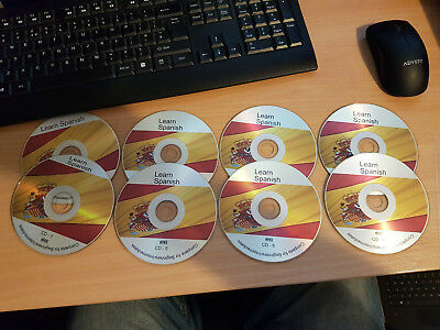 Learn to Speak Spanish - complete beginners audio course -  8 CD disks