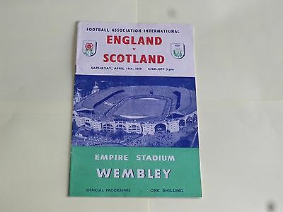 England v Scotland 1959 Football Programme Wembley