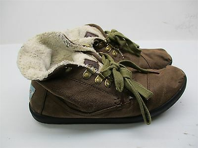 TOMS #A328 Women's Size 9 Casual Brown Canvas Shoes