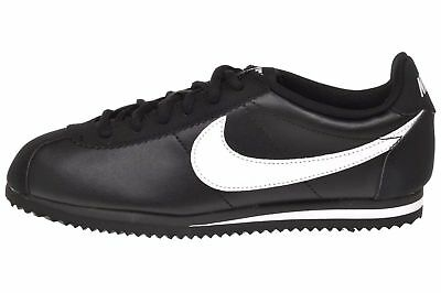 Nike Cortez GS Kids Youth Boys Girls Casual Shoes Black White 749482-001