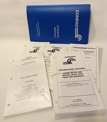 CONRAIL 1990's Operating Manual - Employee TIMETABLES