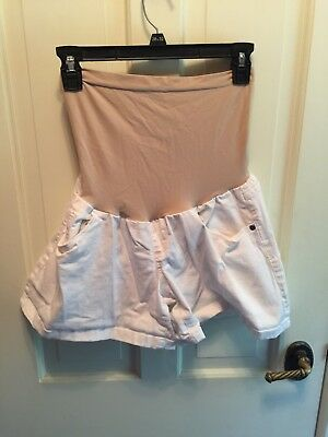 Oh Baby by Motherhood White Maternity Shorts Size XL