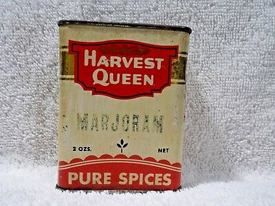 Vintage Collectible Advertising Spice Tin Harvest Queen -Red Owl Stores-Minn.