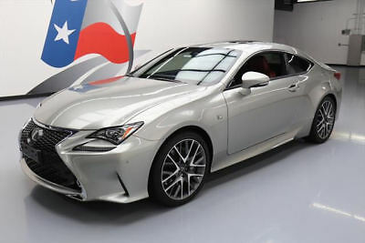 2016 Lexus RC  2016 LEXUS RC350 F SPORT SUNROOF NAV CLIMATE SEATS 5K #011969 Texas Direct Auto
