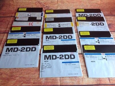 COMMODORE 64 ASSORTED GAMES on Floppy Disk. C64 Games Various Lot Bulk 10
