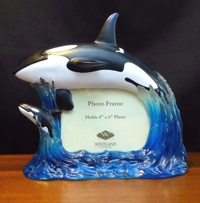 Orca Mother Whale And Calf Picture Frame - Westland Giftware *NEW*