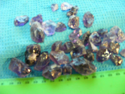 Lot of 850 ct African Purple Amethyst rough stones.