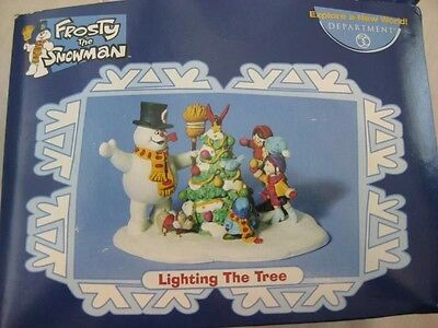 Dept 56 Frosty the Snowman - Lighting The Tree - NEW