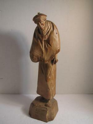 Hand Carved Wooden Sculpture by P L CARON - L@@K!!