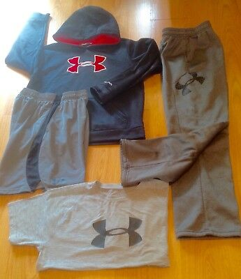 Lot of size YLG Under Armour Hoodie/Pants/Shirt/Shorts