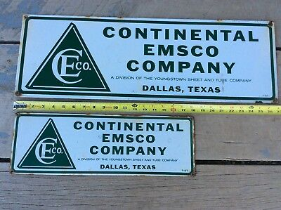 Continental Emsco Pumping Unit Oilfield Oil Well Signs