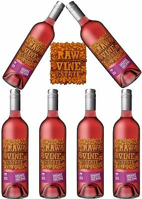 6 X Raw Organic Preservative Free Rose 2016