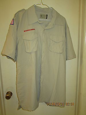 BSA/Cub, Boy & Leader Scout Newest Vented Back Uniform Sht.Slv. Shirt-Adult -6
