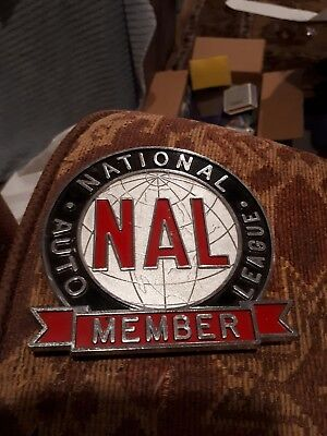 Vintage national auto league  car topper  in box nal nice shape