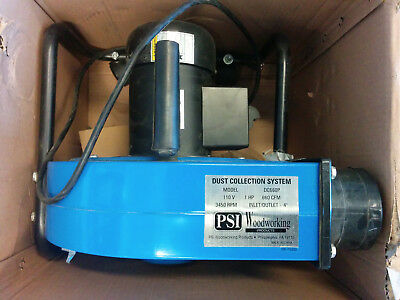 """1 Horsepower 660 CFM, 4"""" inlet/outlet Dust Collector with 1-Micron Bag, 110-Volt"""
