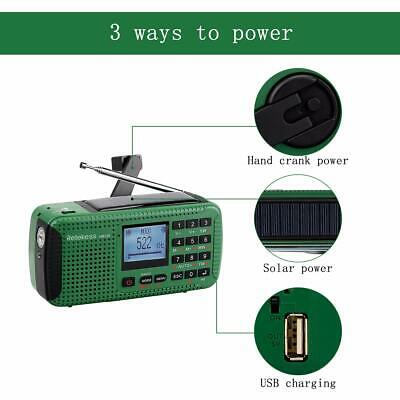 New FM/MW/SW Hand Crank Emergency Radio Receiver Bluetooth MP3 Player Record