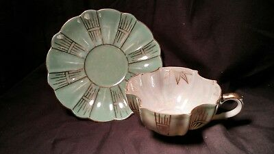 Royal Sealy Cup & Saucer- Mint Green