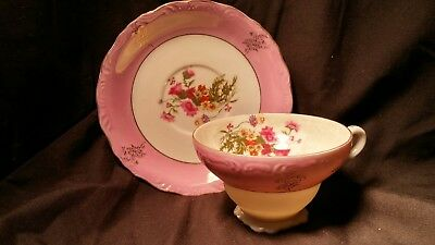 Floral antique Cup & Saucer