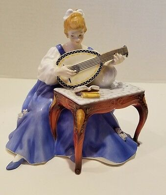 Royal Doulton Lute Figurine Limited Edition In Original Box!
