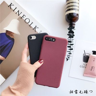 Shockproof Thin Soft TPU Silicone Matte Back Case Cover for iPhone 8 6s 7 Plus