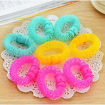 8 Pcs Hairdress Magic Bendy Hair Styling Roller Curler Spiral Curls DIY Tools WB