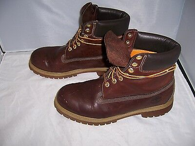 TIMBERLAND Men's Genuine Leather High Top Brown Waterproof Boots - Size 10 (US)