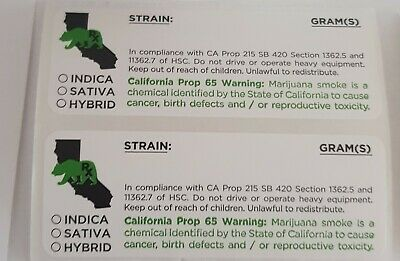 Rx Medical Cannabis Prescription Labels -Singles To Rolls Of 1000
