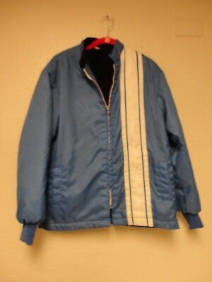 Great Lakes racing Jacket  Blue White Stripe Fur vintage med.
