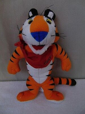 """Vintage Kellogg Frosted Flakes Tony the Tiger Plush Stuffed Doll 10"""" #2076"""