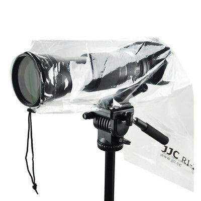 2 x Clear Plastic Rain Cover for DSLR camera & lens protection Canon Nikon Sony