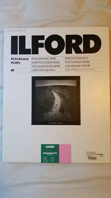 Ilford Glossy Fiber Paper for Darkroom Printing 11x14 BRAND NEW (50 Sheets)