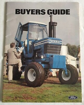 Original Ford 2600 8700 9700 County Tractor Brochure Buyers Guide Australia