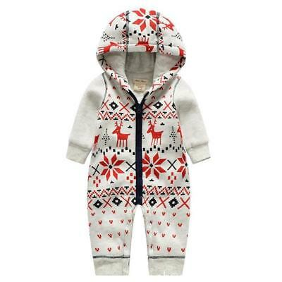 Newborn Kids Baby Boys Infant Overall Jumpsuit Bodysuit Romper Outfits Clothes